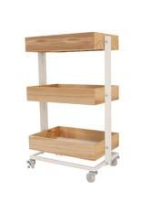 Snack Cart Shelf Baby Beauty Shelf Multi-functional Bedroom Kitchen Mobile Bookshelf Pulley