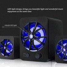السلكية المتكلم LED LED الملونة باس مشغل إستريو مضخم الصوت مكبرات الصوت الكمبيوتر مصباح لتهيئة الجو باس مشغل إستريو للكمبيوتر المحمول