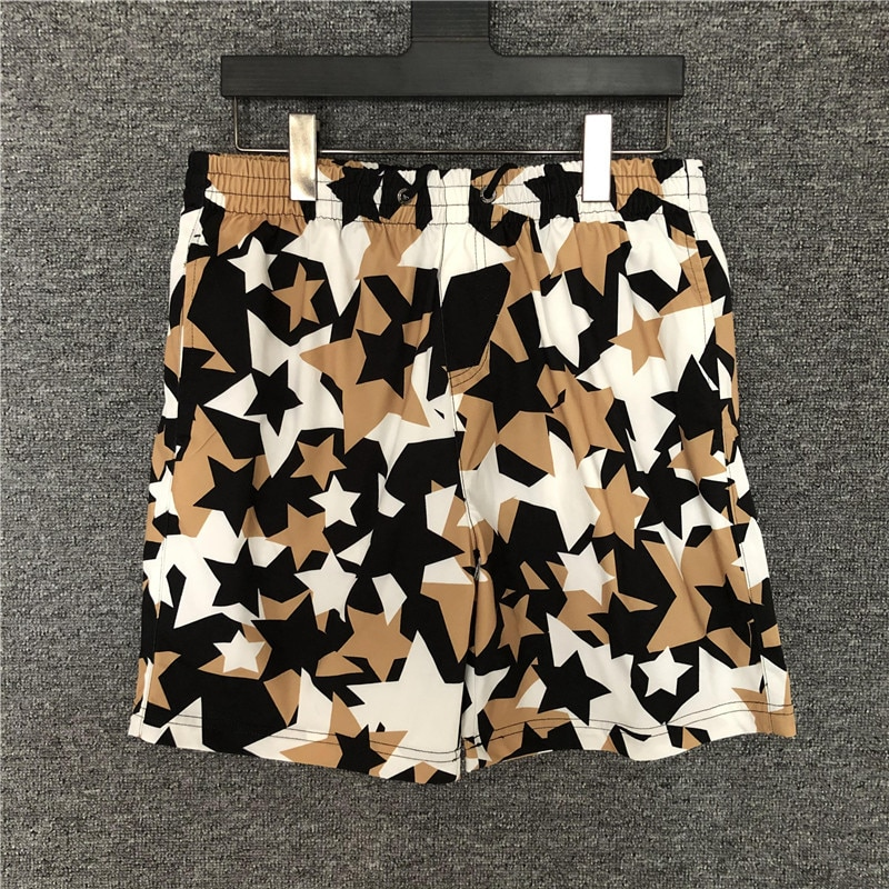Euramerican Mens high quality comfort casual shorts Hot Fashion stars print beach B950