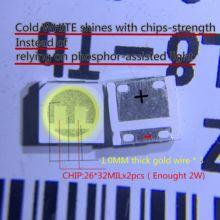 20 adet/grup LG SMD LED 3535 6V soğuk beyaz Chip-2 2W TV/LCD arka ışık TV uygulaması