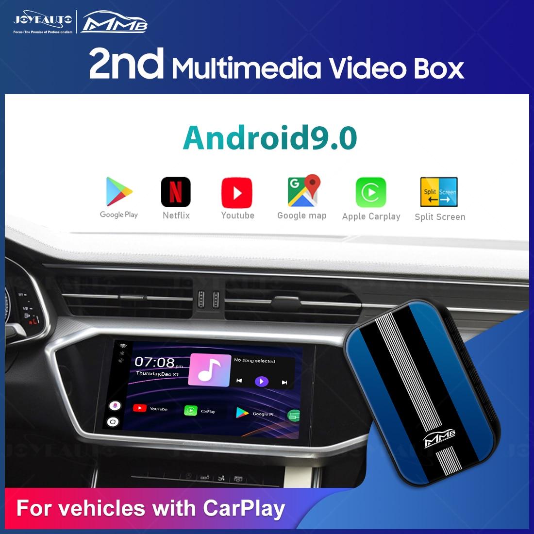 MMB أندرويد Carplay صندوق لاسلكي أبل Carplay دونغل أندرويد 9 4 + 32GB أندرويد النسخ المتطابق يوتيوب Netflix لاعب صندوق الملاحة