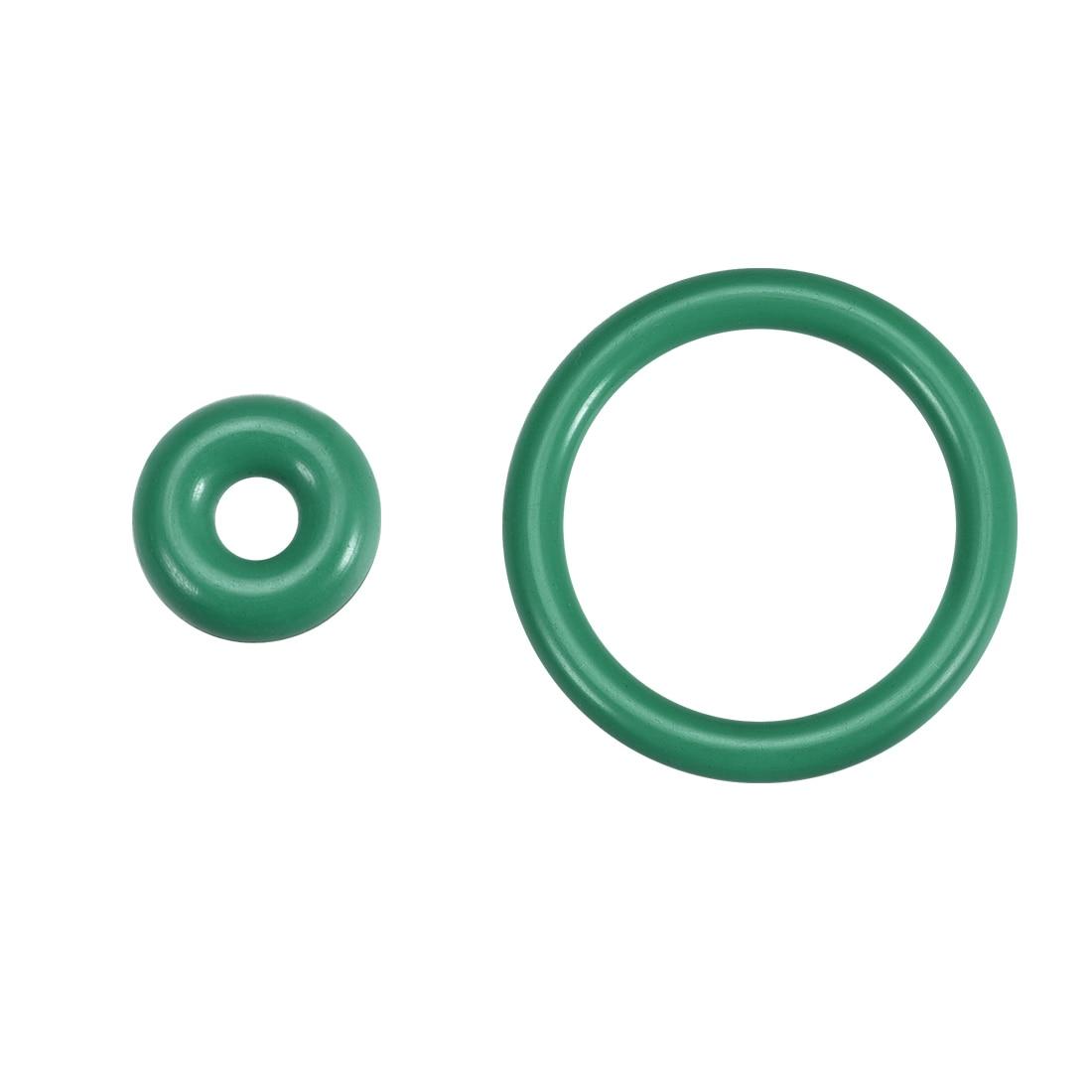 Uxcell, 10 Uds., anillos de caucho fluorado 10-25mm OD 3-18mm I.D, 3,5mm de ancho, junta de sellado verde para reparaciones hidráulicas y neumáticas