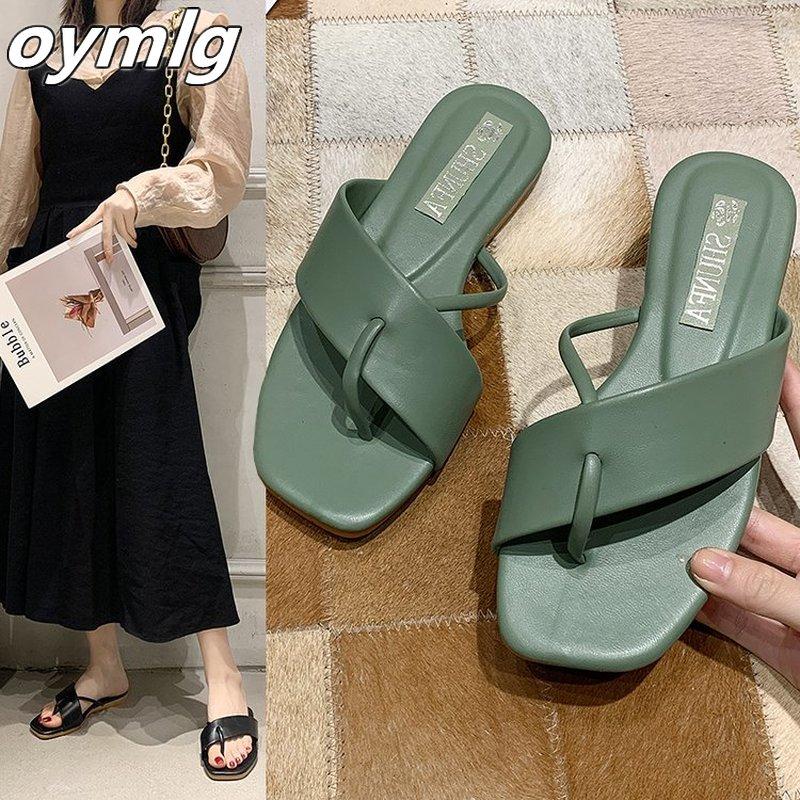 2020 الإناث الصنادل الكورية النسخة شفافة السحب الأحذية الإناث البرية عدم الانزلاق النعال المرأة الأزياء النعال النساء الصنادل