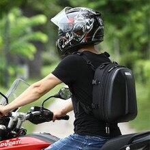 Sac de queue de moto sac de siège arrière de moto étanche conception de bande réfléchissante de motard sac à dos de grande capacité Double couche