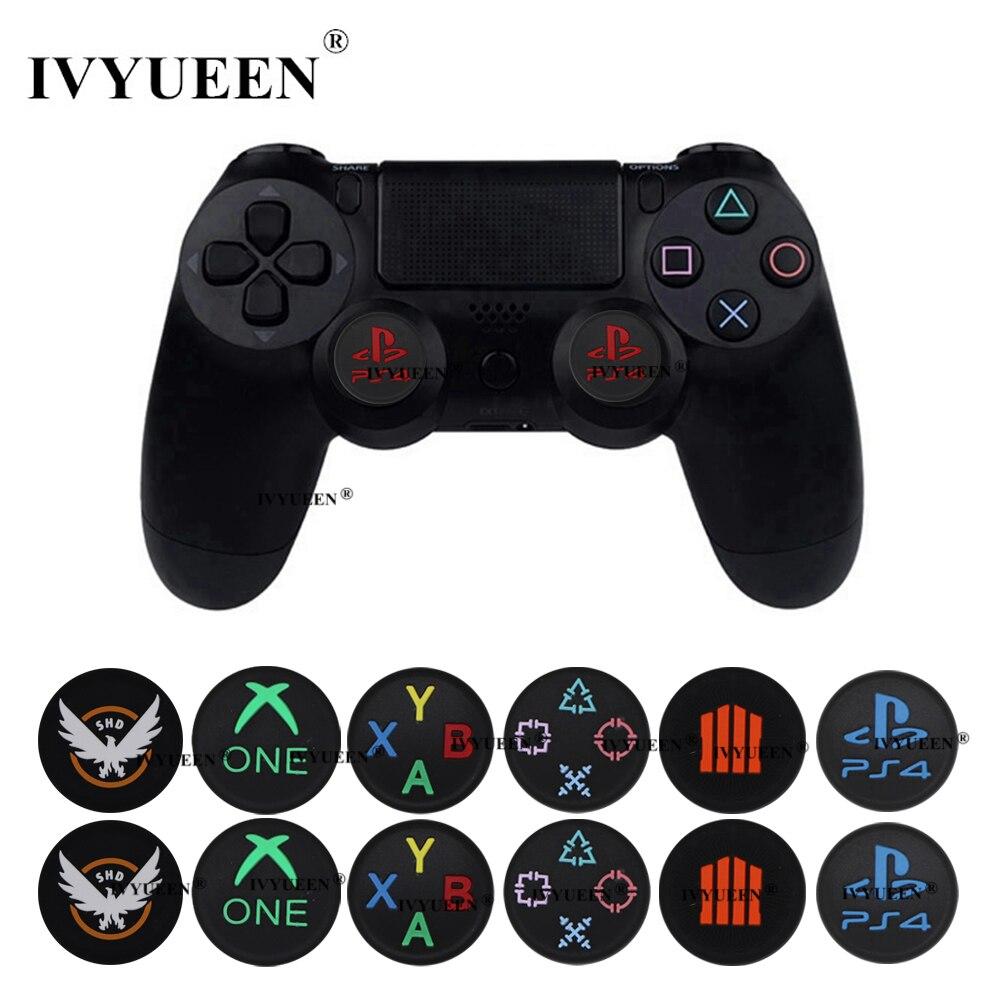 IVYUEEN 2 шт. для sony Dualshock playstation 4 PS4 Pro тонкий контроллер силиконовые аналоговые ручки для большого пальца крышки для X Box One X/S