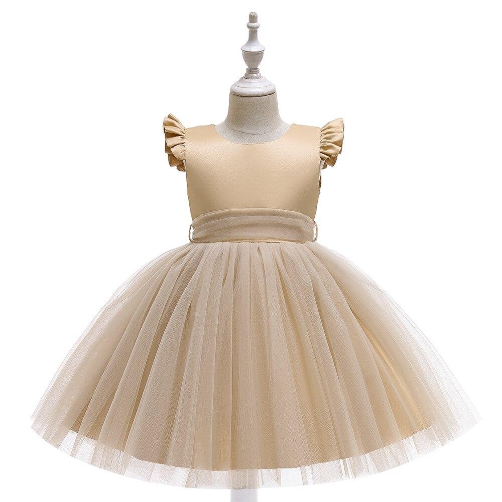فستان أميرة تول ذهبي للفتيات ، فستان حفلات أعياد الميلاد الأولى ، ملابس الأطفال ، فستان الكريسماس ، مجموعة جديدة
