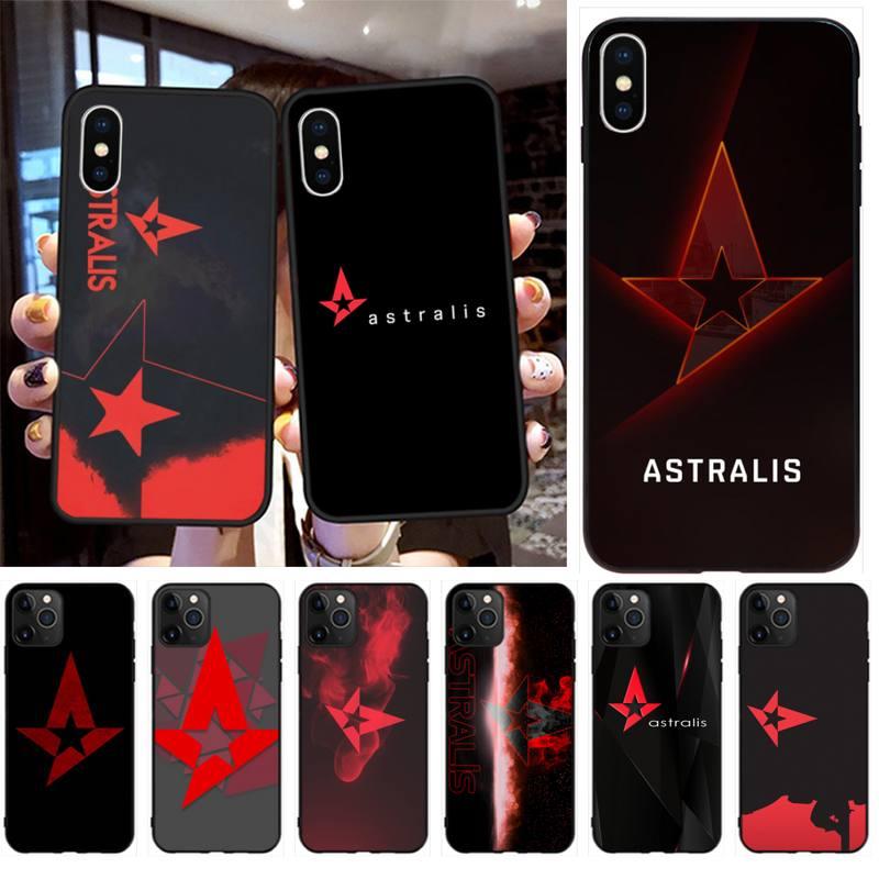 Cutewanan astralis logo preto tpu macio caso de telefone capa para iphone 11 pro xs max 8 7 6 s plus x 5S se 2020 xr