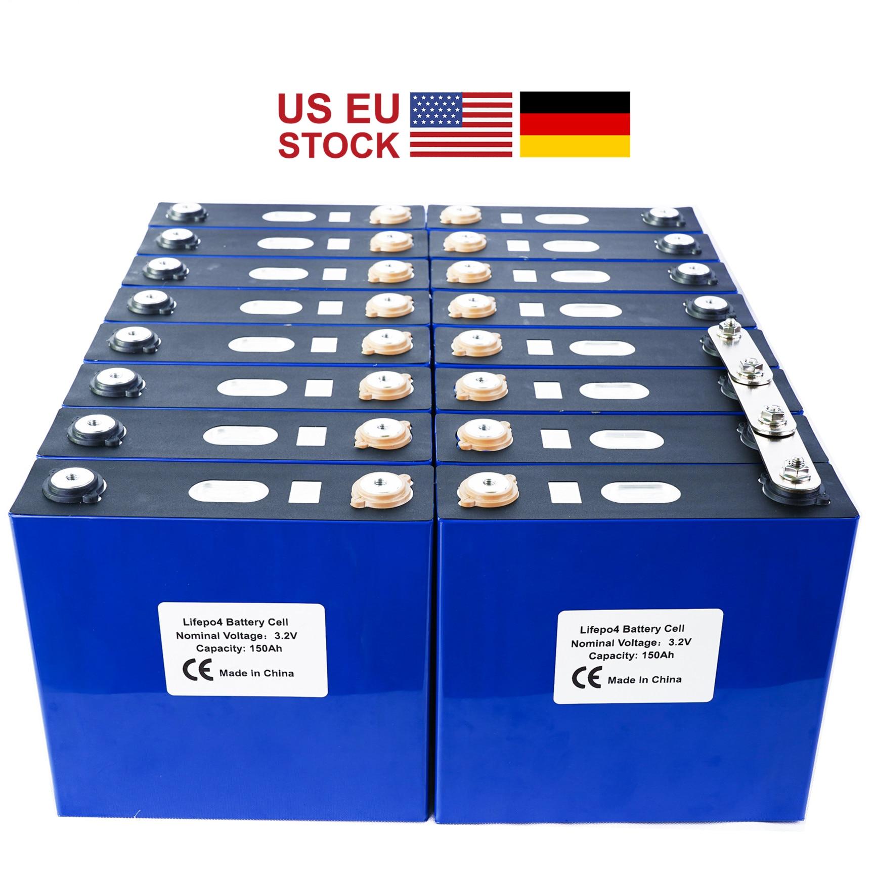 GRADE A 2020 NEW 16PCS 3.2V 120Ah 176Ah Lithium Iron Phosphate Lifepo4 Battery  Solar 24V 48V Cells Not 150Ah EU US TAX FREE