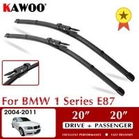kawoo wiper front car wiper blades for bmw 1 series e87 october 2004 nov 2011 windshield windscreen window 2020 lhd rhd