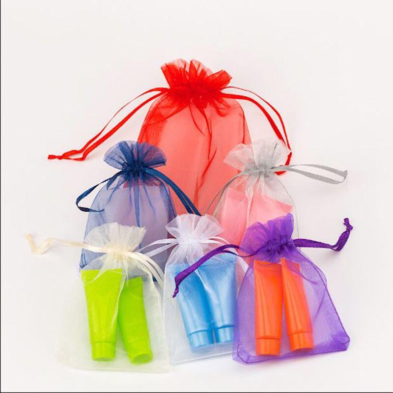 Sac en organza pour bijoux   Pochettes demballage de 100 pièces, sac en organza, sac pour shampooing
