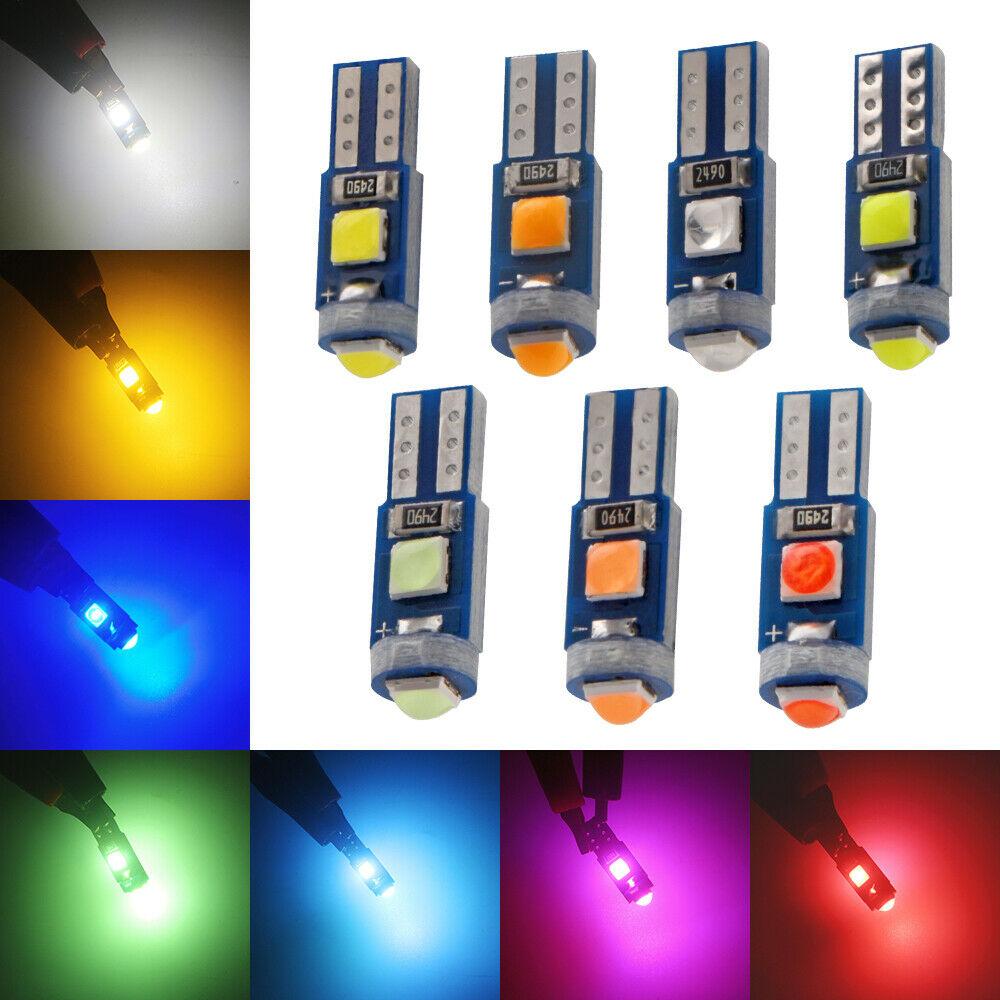 500pcs 12V canbus T5 58 74 286 W1.2W Super Bright 3030 LED 3SMD wedge LED Light Car Dashboard Instrument Cluster Panel Lamp Bulb