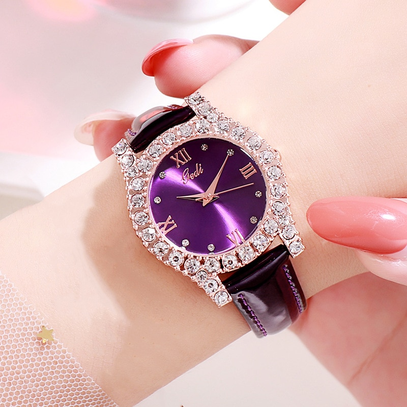 Fashion Leather Belt Women Watches Diamond Luxury Brand Water Resistant Quartz Wrist Watches for Women Gifts Relojes Para Mujer enlarge