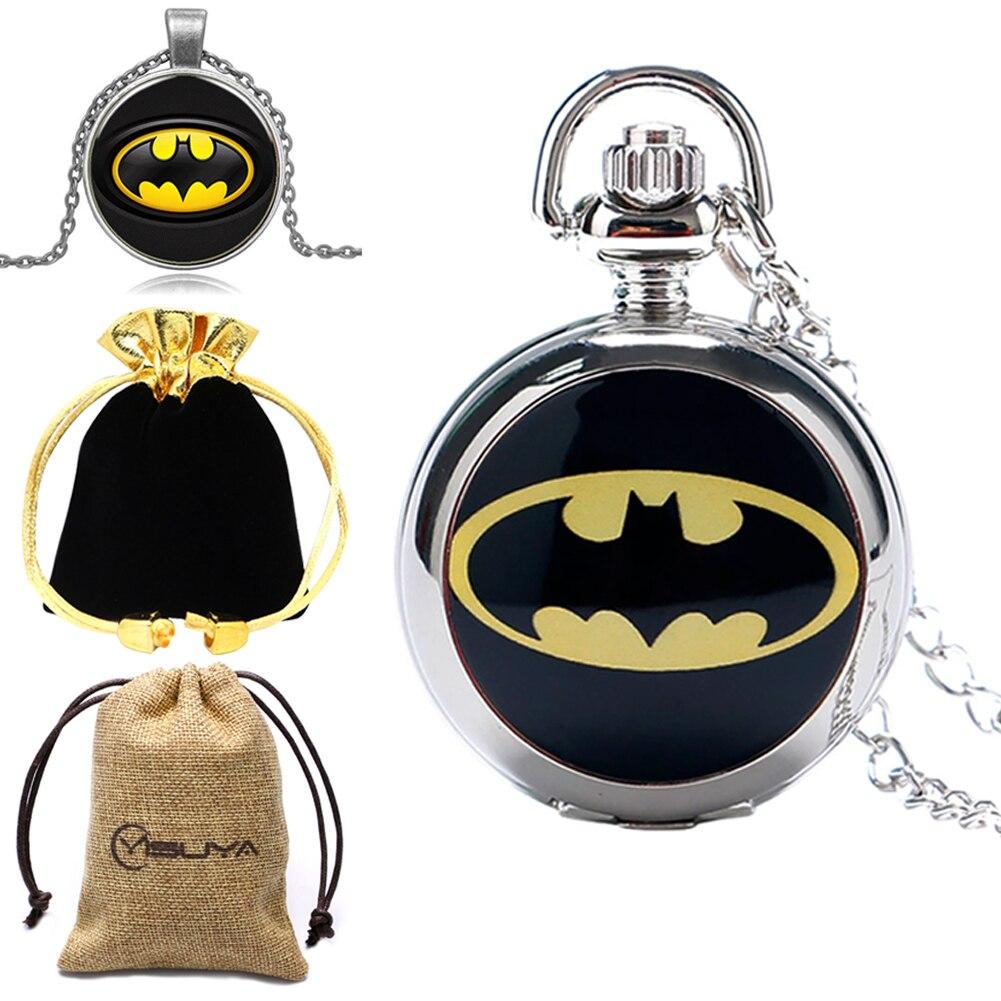Набор мужских карманных часов, подарочный набор с циферблатом и кварцевым циферблатом, серебряная подвеска, цепочка для аксессуаров, лучши...