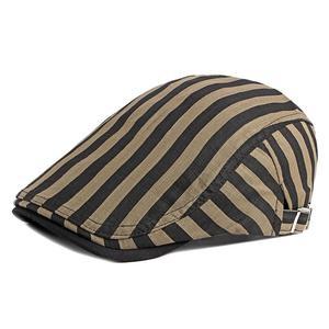 2021 Cotton four seasons solid striped Newsboy Caps Flat Peaked Cap Men and Women Painter Beret Hats 12