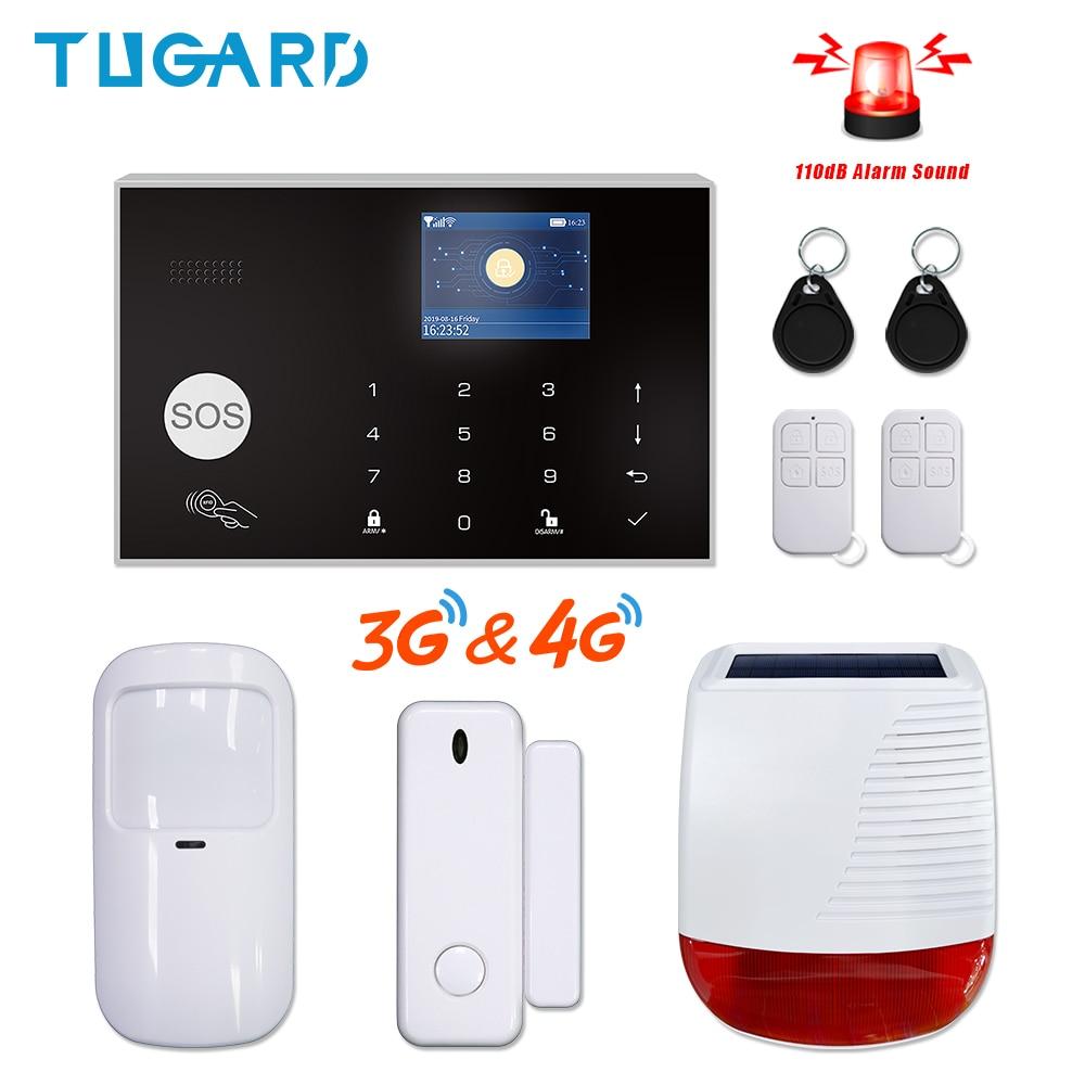 نظام إنذار ذكي من Tuya مزود بالواي فاي GSM 3G 4G مضيف يعمل بالواي فاي 433 ميجاهرتز نظام إنذار ضد السرقة لاسلكي للمنزل مع 110dB صفارات إنذار تعمل بالطاقة...