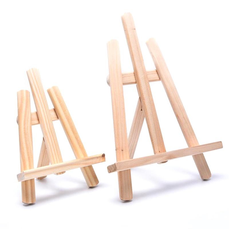 Neue Holz Ölgemälde Staffelei Glatte Desktop Foto Werbung Ausstellung Zeichnung Liefert Holz Staffeleien