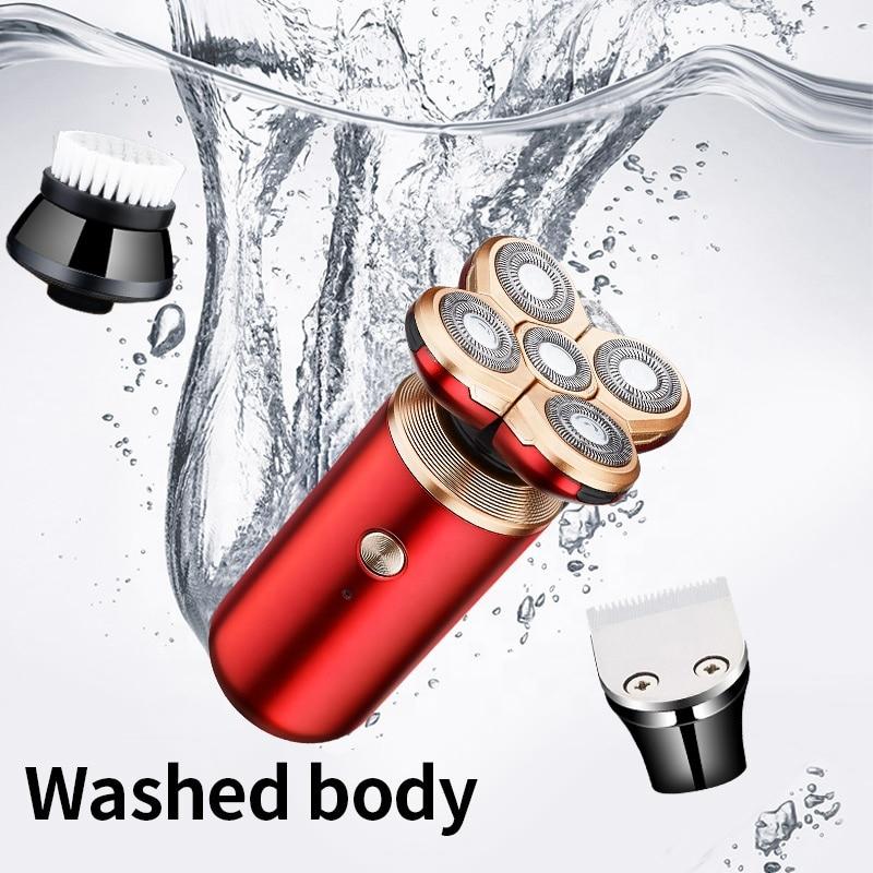 barbeador eletrico recarregavel multi funcao maquina de barbear para homens barba