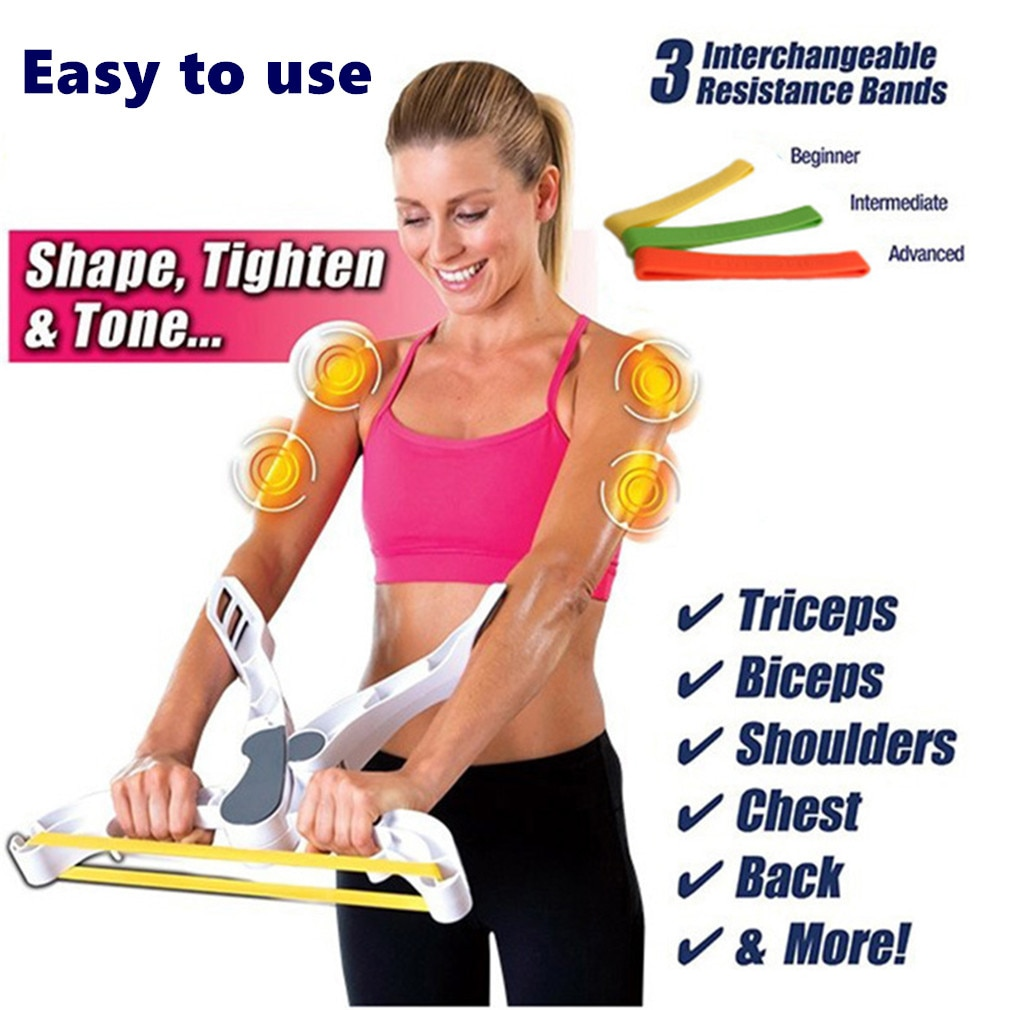 NOVA Fácil Braço Toner 3 Faixas da resistência Muscular Braços Dispositivo Exercitador Corpo Emagrecimento Perda de Peso Queima de Calorias Exercício Parte Superior do corpo