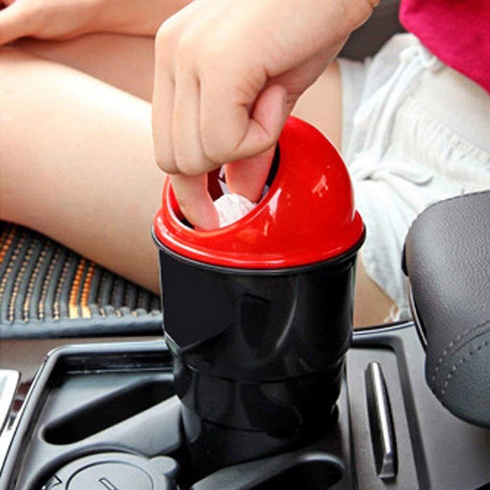 Mini cubo de basura para coche papeleras automáticas papelera soporte papelera papeleras para coches mini cubos de basura