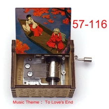 music theme to love's end anime inuyasha KAGOME Kikyo Sesshoumaru Print wooden Music Box kids boys g