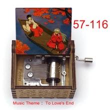 music theme to love's end anime inuyasha KAGOME Kikyo Sesshoumaru Print wooden Music Box kids boys g