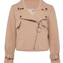 Ladies Trench Coat Women Patchwork Zipper Female Slim Pocket Button Long Sleeve Office Lady Elegant