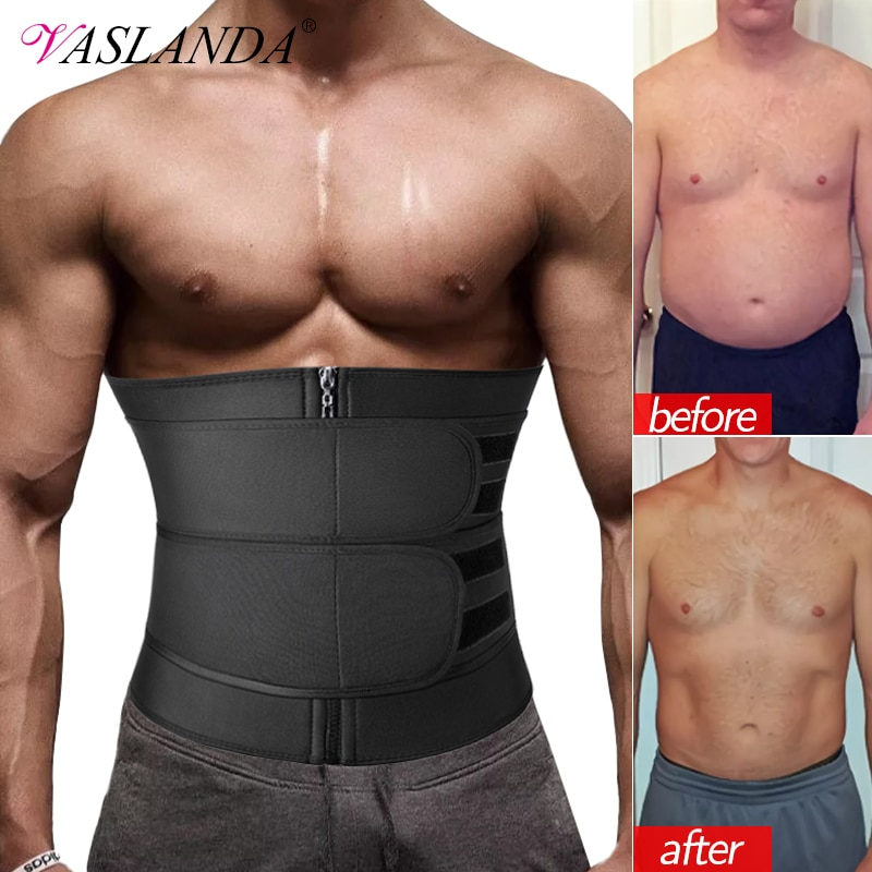 AliExpress - Men Waist Trainer Corset Slimming Body Shaper for Weight Loss Slimmer Sauna Sweat Trimmer Belt Sport Girdle Workout Fat Burner