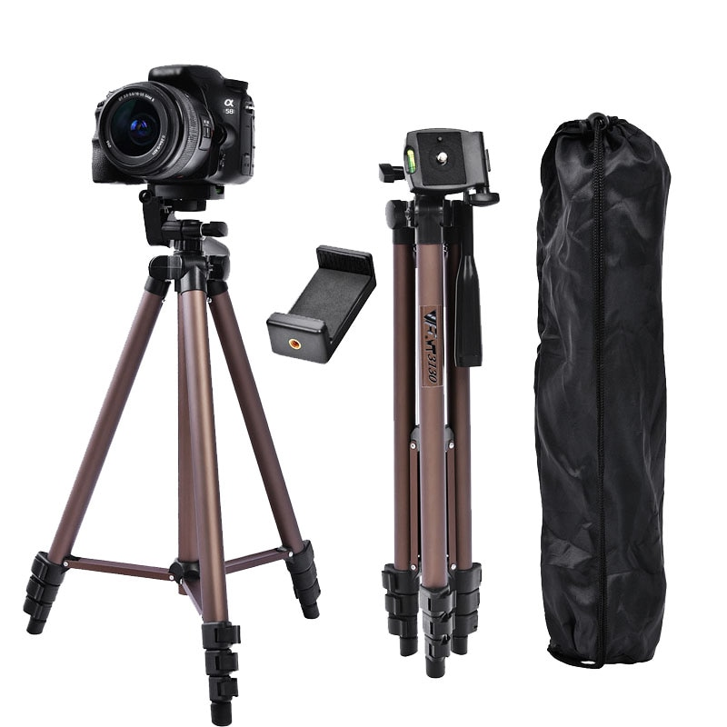 FOSOTO WT3130 Profesional Aluminum Mini Tripods Camera Tripod Stand With Smartphone Holder For DSLR Camera Phone Smartphone