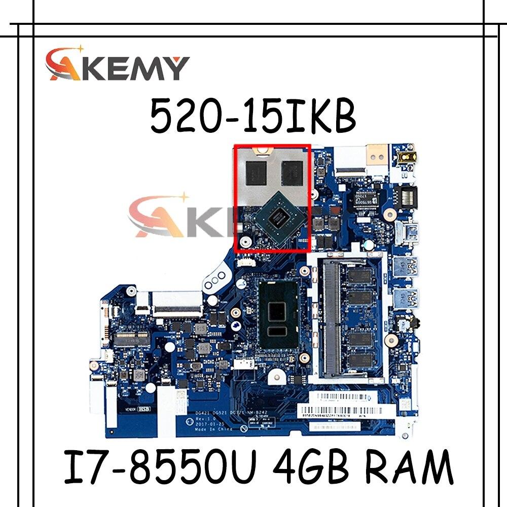 Akemy 5B20Q15618 لينوفو ايديا باد 320-15IKB اللوحة المحمول EG523 EG524 NM-B453 اللوحة الرئيسية ث/I7-8550U 4 جيجابايت رام + وحدة معالجة الرسومات