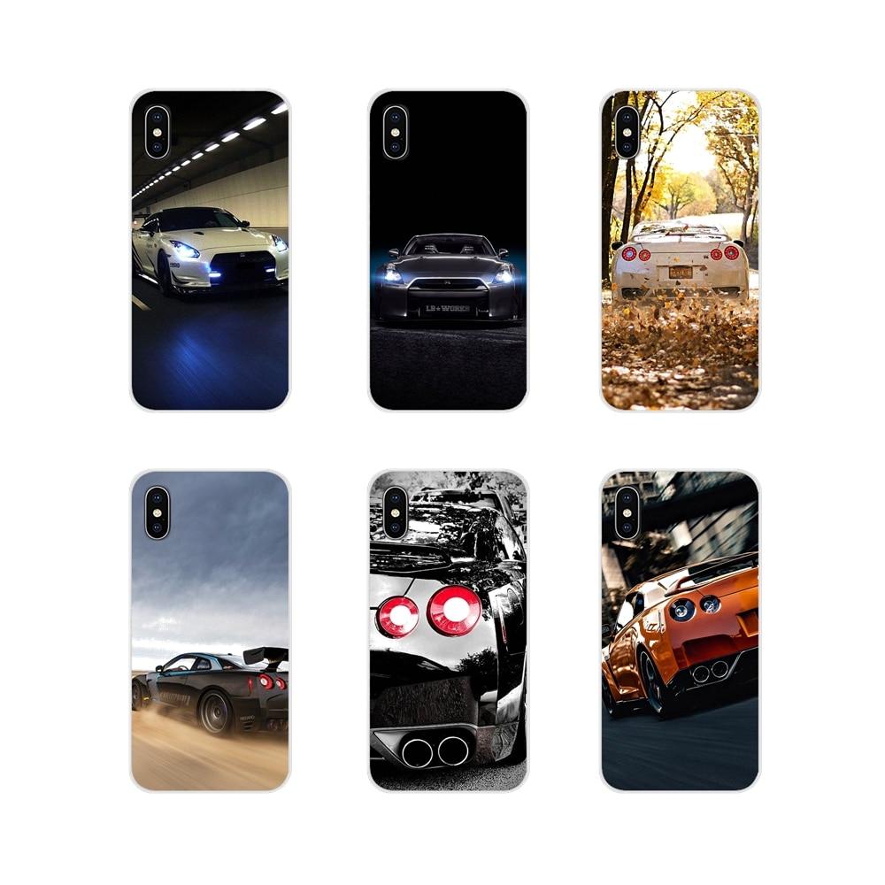 Acessórios capas de caixa do telefone jdm carro nissan gtr metal para apple iphone x xr xs 11pro max 4S 5S 5c se 6s 7 8 plus ipod touch 5 6