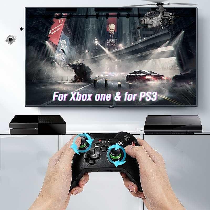 2,4G juego inalámbrico controlador Joystick para Xbox un controlador para PS3/Android Teléfono Inteligente Gamepad para ganar PC enlarge