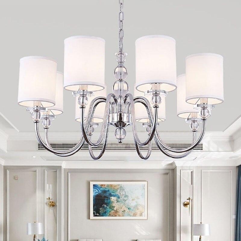 Modern Chandelier Chrome Metal Led Chandeliers Lighting Crystal Living Room Pendant Lights Bedroom