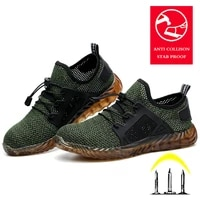 mens safety shoes breathable professional working safety footwear construction lightweight comfortable metal steel toe