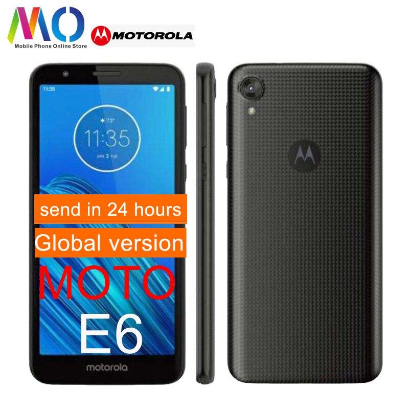 Motorola Original E6 MOTO XT2005 Android 9,0 2GB 16GB 13.0MP Cámara 4G LTE 5,4 pulgadas Snapdragon teléfono móvil incluyen FCC ID OTA