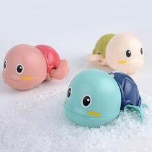 1 шт., милые Мультяшные морские животные Черепаха, Классическая Детская игрушка для воды, Детские плавающие черепахи, заводные на цепочке, де...