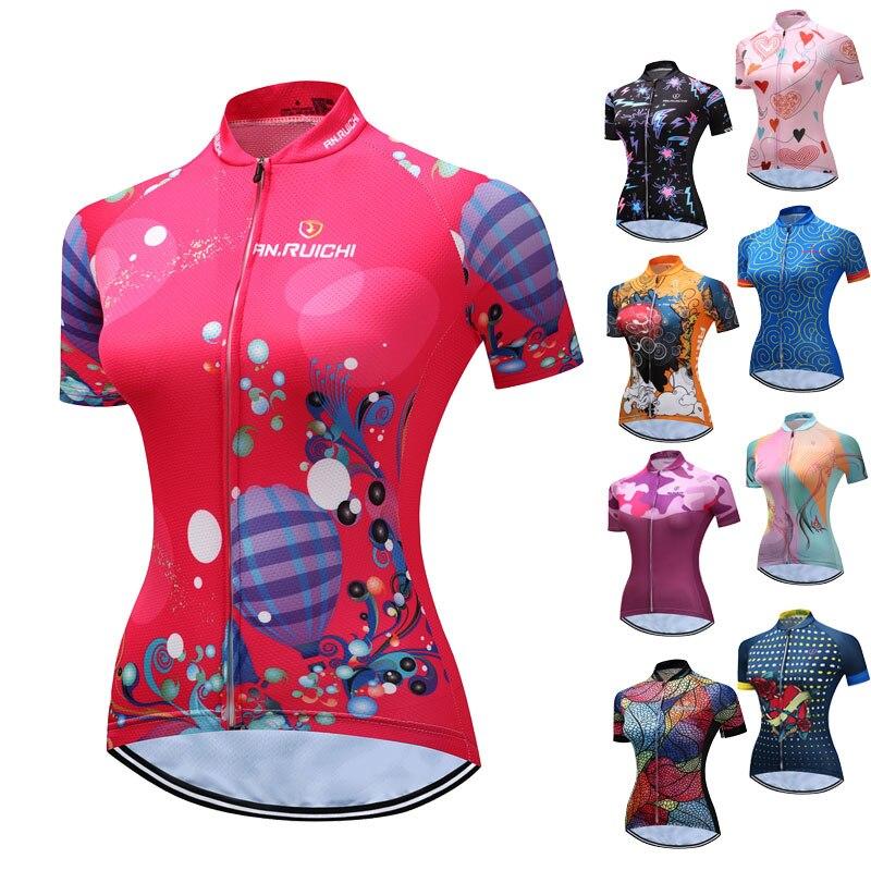 Camiseta de Ciclismo de estilo chino para mujer, Maillot de manga corta...