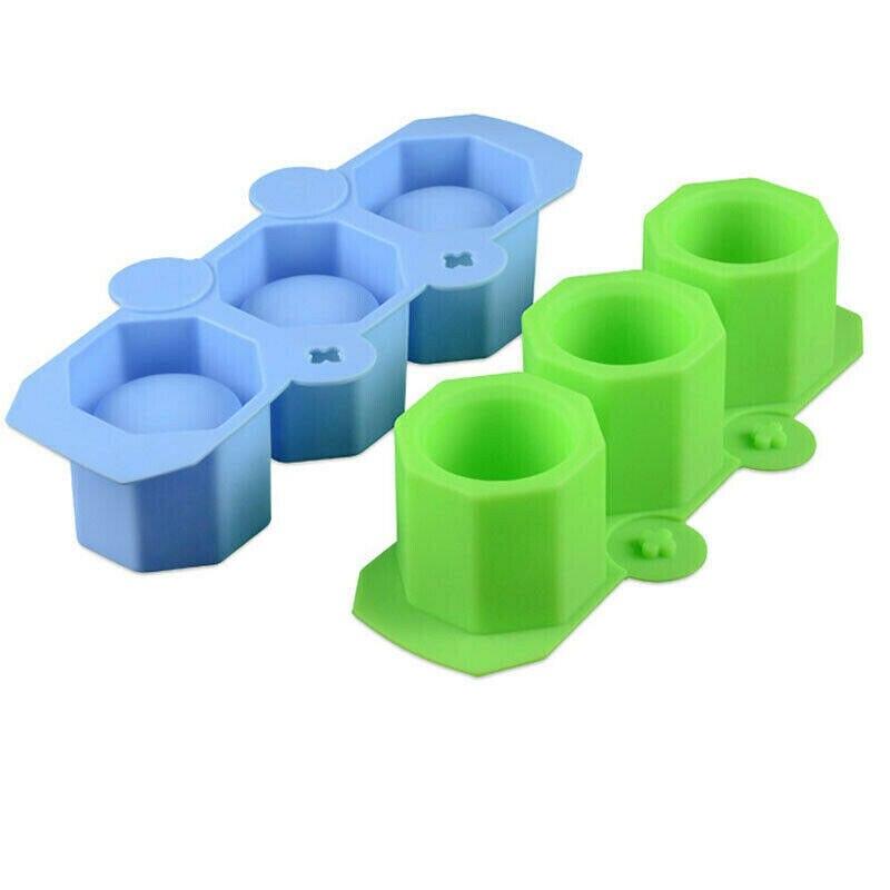 3 rejillas de silicona bandeja con molde para cubitos de hielo hace vasos de chupito molde de hielo novedad regalos bandeja de hielo herramienta para beber en verano molde de vaso de hielo