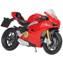 Bburago 1:18 Ducati Panigale V4 Red Diecast Model Motorcycle Toy Bike