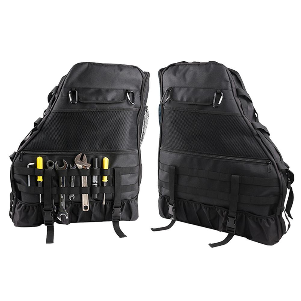 Bolsa de almacenamiento de rodillos multifuncional para Jeep Wrangler JK JKU TJ LJ de 4 puertas con múltiples bolsillos, organizador, bolsa de carga