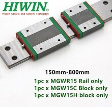 Hiwin guida lineare MGW15 150 200 250 300 330 350 400 450 500 550 600 millimetri MGWR15 ferroviario partita MGW15C MGW15H blocco di trasporto parte di CNC