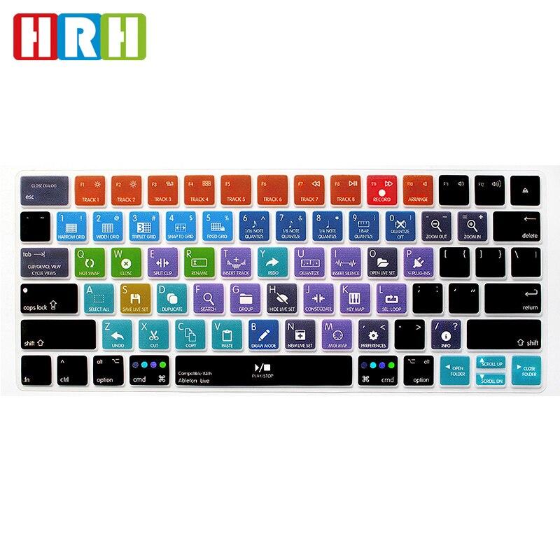 HRH Ableton-teclas de acceso rápido de silicona para teclado, cubierta protectora de...