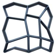 워킹 금형 도구로드 슬라이서 커팅 경로 홈 가든 장식을위한 금형 제조기 재사용 가능한 콘크리트 콘크리트 디자인 스톤 포장 기계