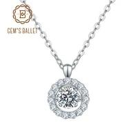 gems ballet 925 sterling silver pendant for women women 0 5ct 5 0mm twinkle setting moissanite diamond pendant necklace
