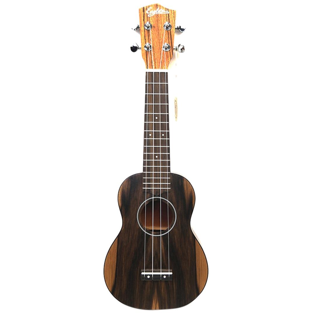 21 polegadas iniciante nogueira ukulele 4 cordas kit de guitarra-burlywood