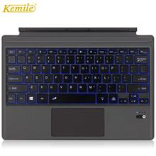 Kemile ultra ince arkadan aydınlatmalı klavye Microsoft yüzey Pro 6 2018 Pro 5 için 2017 Bluetooth klavye yüzey Pro 3 pro 4 tuş takımı