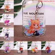 Cute Cartoon Game League of New Legends Keychain LOL Acrylic Figure Rakan/Ahri/Riven/Yasuo Bag Pendant Car Key Charm Porte Clef