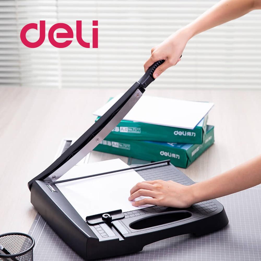 Deli 1pcs Multiple types Paper Cutter Manual Small A4 cutter Paper Photo Cut Trowel