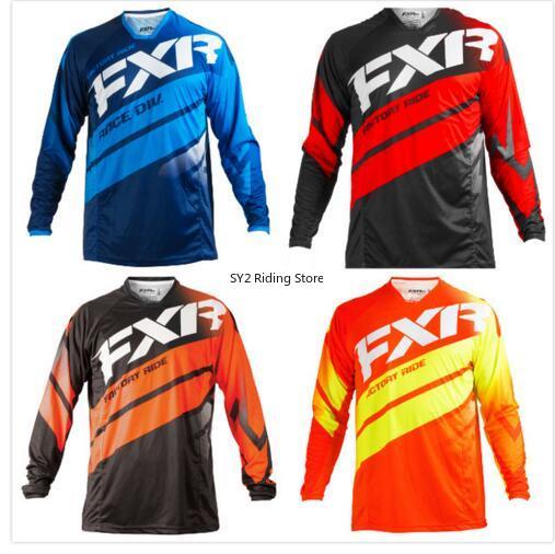 Camiseta de Motocross FXR, ropa de Moto, todoterreno, manga larga, FXR DH