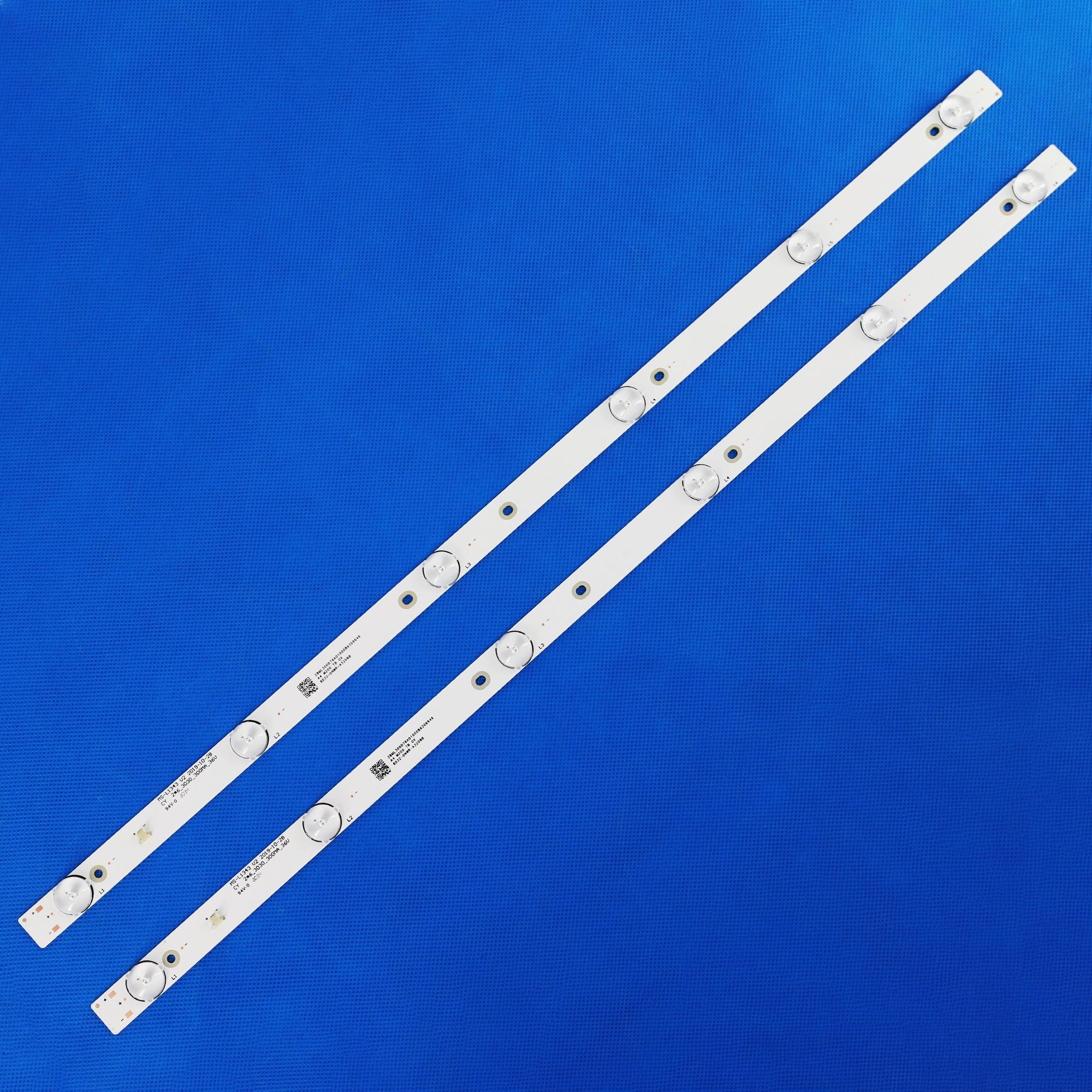 Телевизионные полосы Светодиодная лента-подсветка s MS-L1343 V1 V2, 8D32-DNWR-A3206B, 32 дюйма, светодиодные телевизионные полосы CY 2*6 _ 3030 _ 300 мА _ 36 В, линейк...