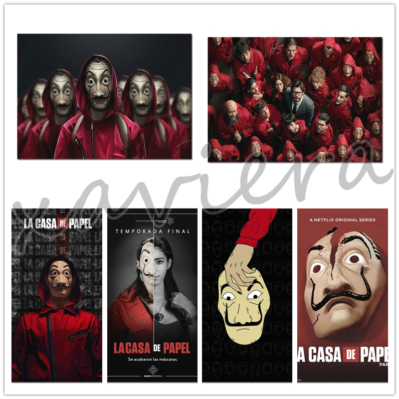 5D DIY Diamond Painting La Casa De Papel Movie Poster Embroidery Full Square Round Drill Cross Stitch Kit Home Decoration Crafts
